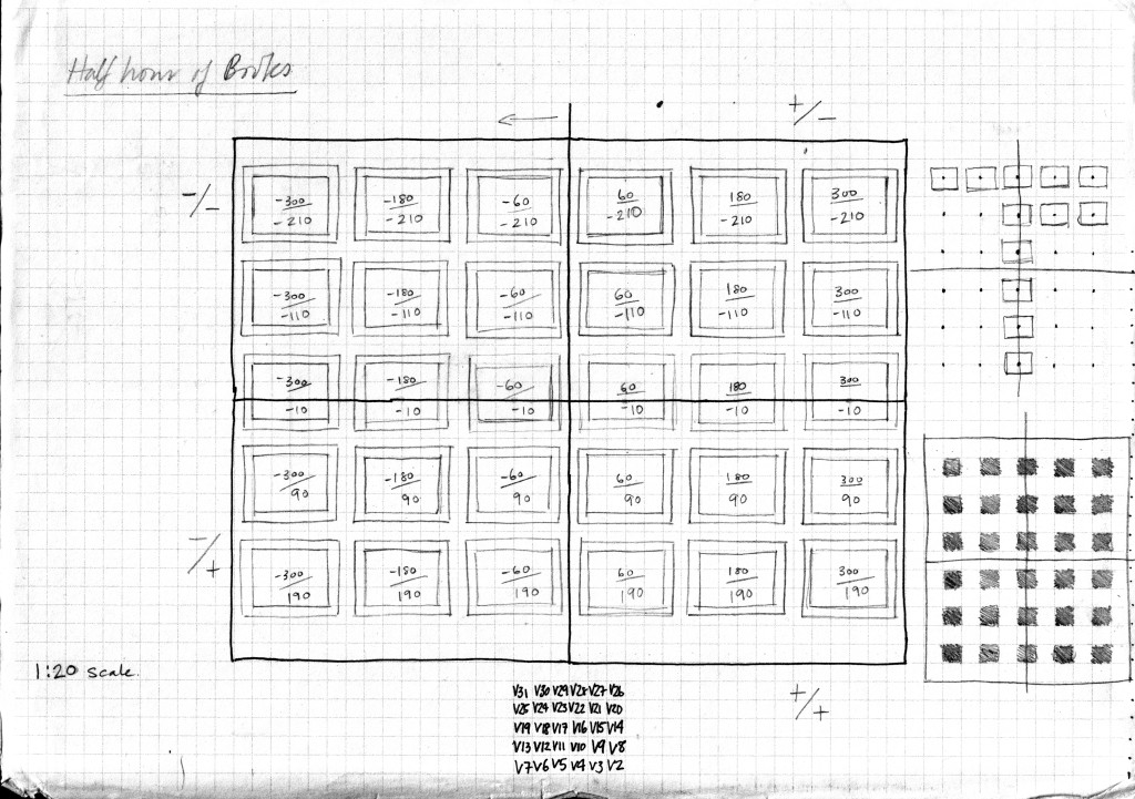 Plan drawing for 30 Books